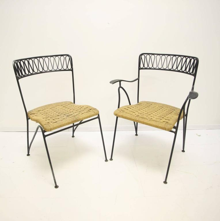 Maurizio Tempestini for Salterini Dining Set of Six Chairs and Table For Sale 1