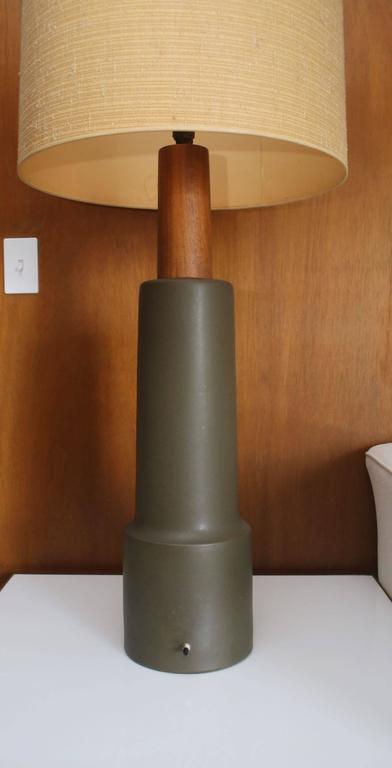 20th Century Monumental Martz Pottery Table Floor Lamp For Sale