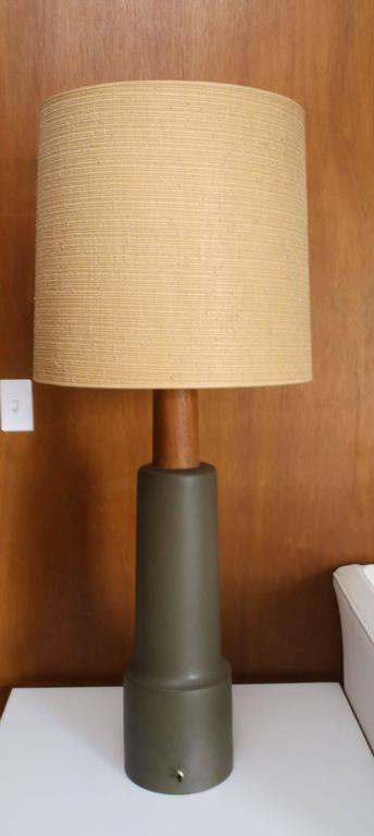Monumental Martz Pottery Table Floor Lamp In Excellent Condition For Sale In St. Louis, MO