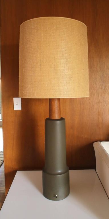 Monumental Martz Pottery Table Floor Lamp For Sale 1