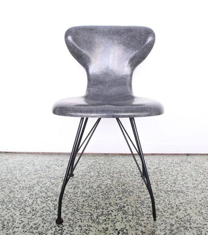 Rare Egmont Arens Fiberglass Chair 2