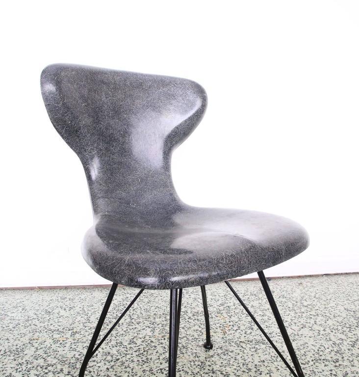20th Century Rare Egmont Arens Fiberglass Chair For Sale