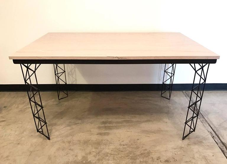 Custom modern marble top dining table for sale at 1stdibs for Custom made marble dining tables