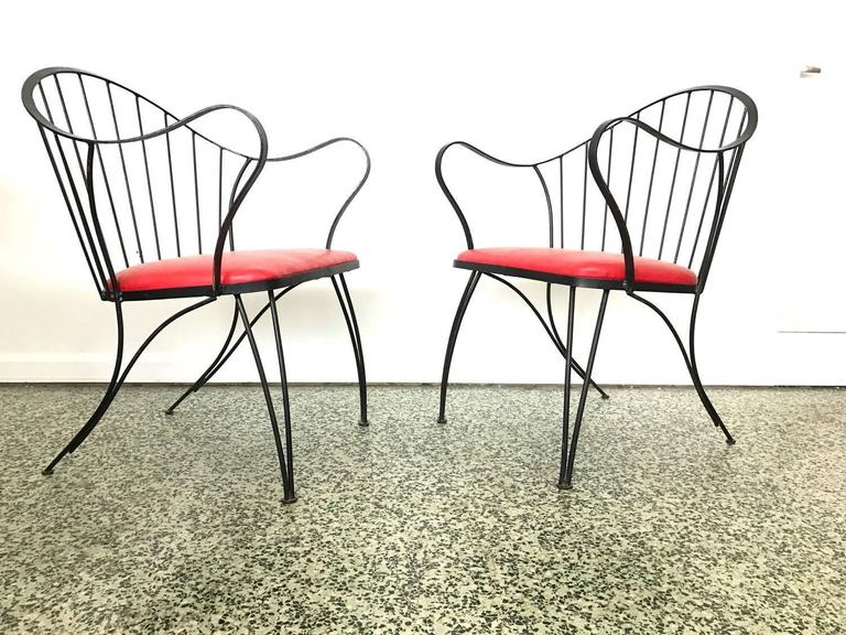 Pair of Dramatic Woodard Lounge Chairs 2