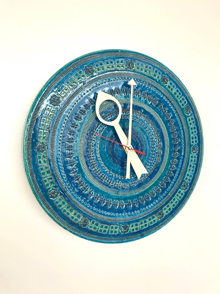 Bitossi Londi Rimini Blu Pattern Clock For Meridian At