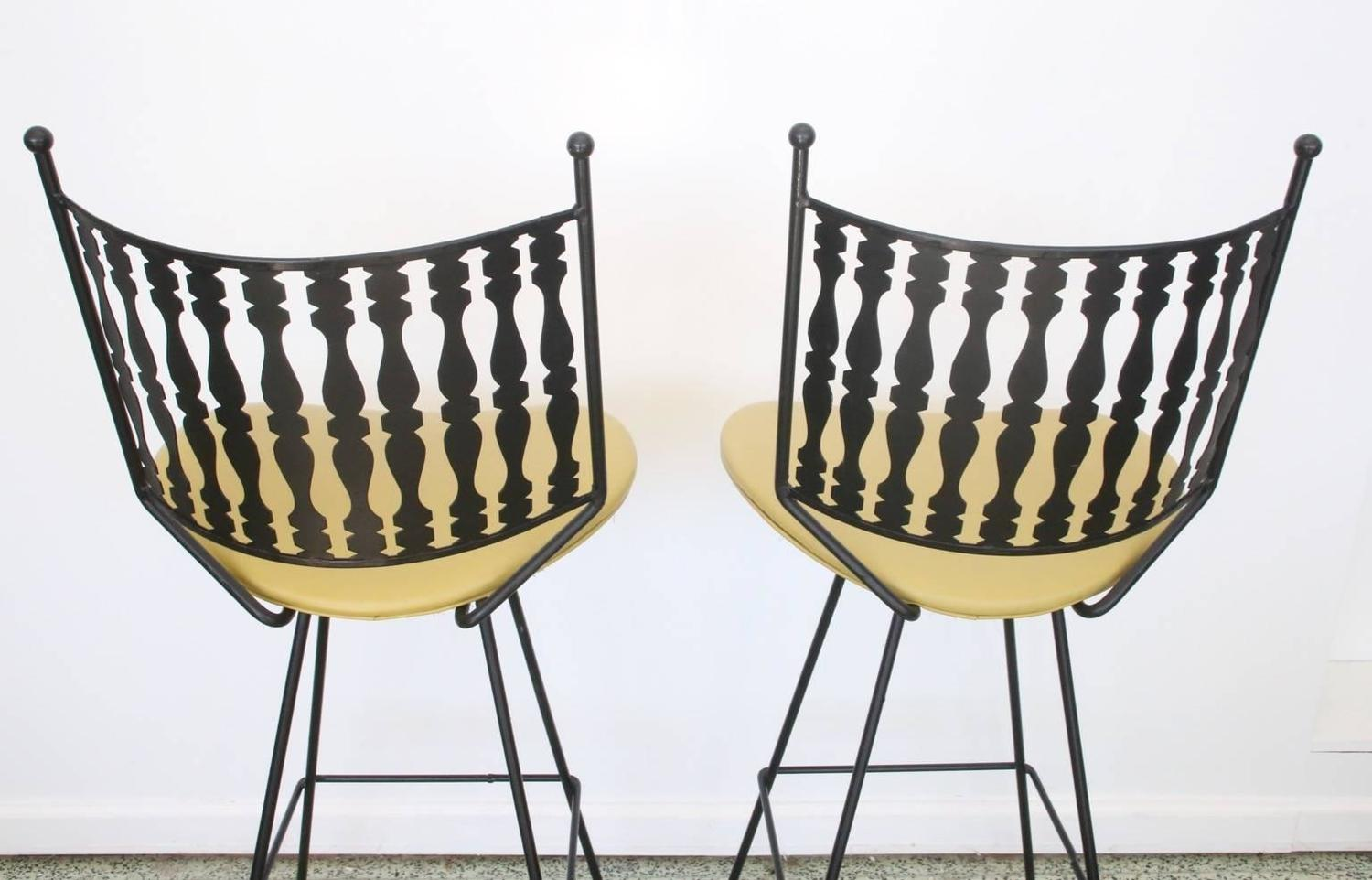 Pair Of Vintage Mid Century Bar Stools By Arthur Umanoff
