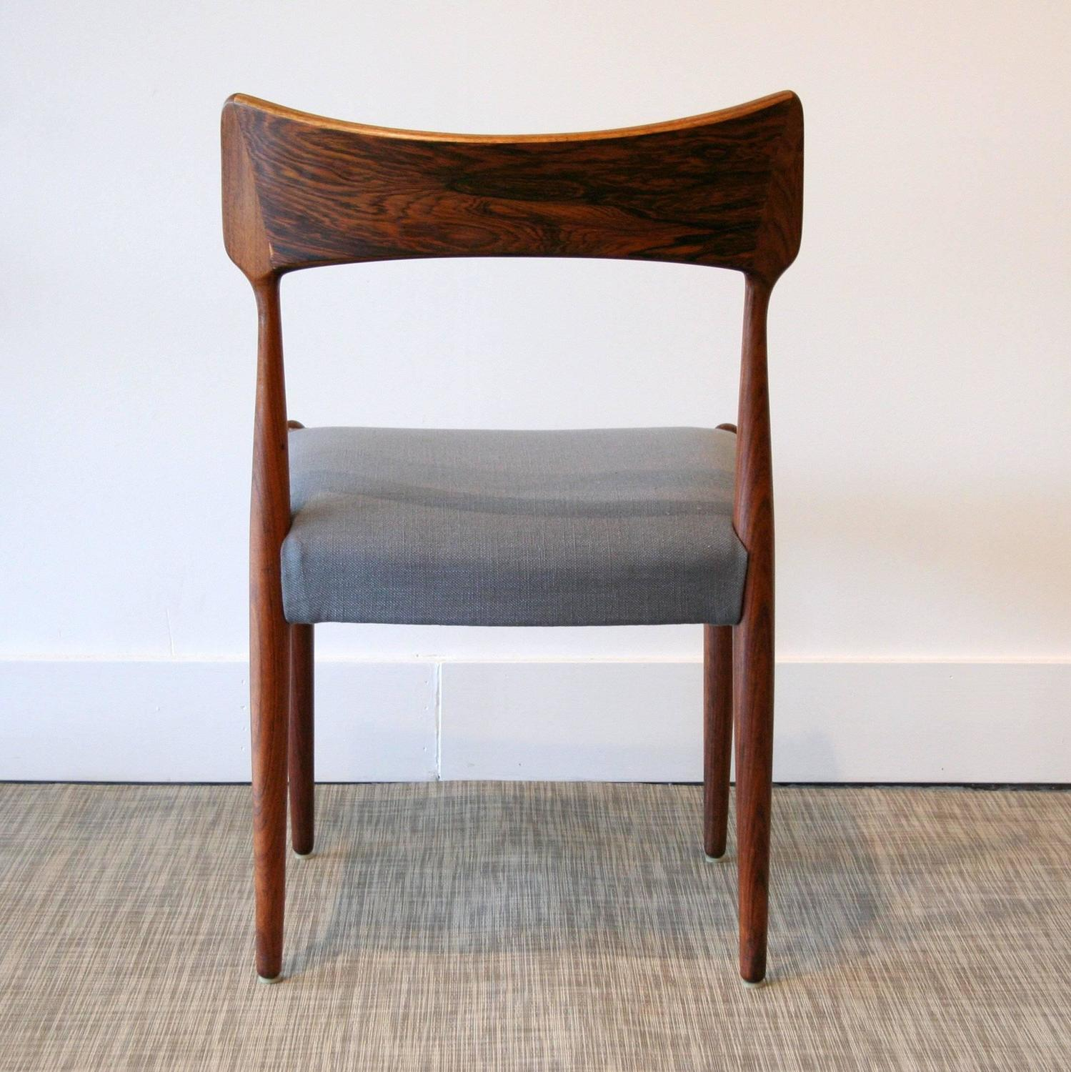 Vintage Danish Rosewood Dining Chairs At 1stdibs