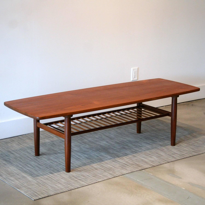 Metal Coffee Table Legs Vancouver: Vintage Danish Teak Coffee Table At 1stdibs