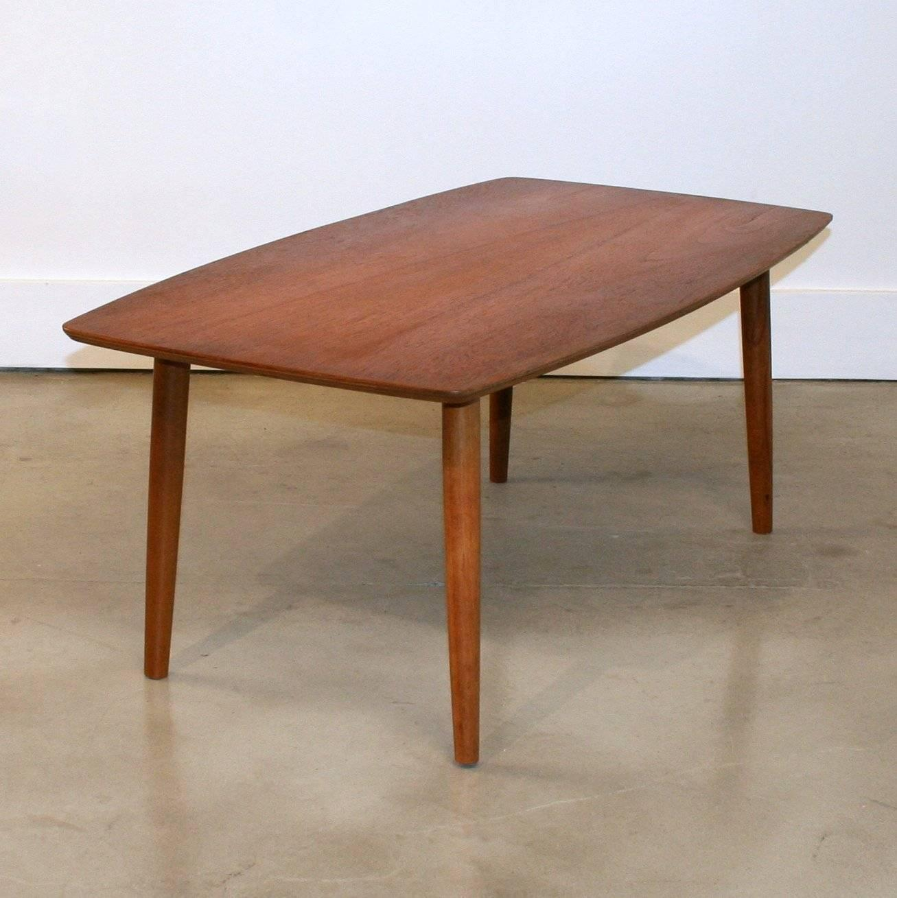 Vintage danish small scale teak coffee table at 1stdibs for Coffee tables vancouver canada
