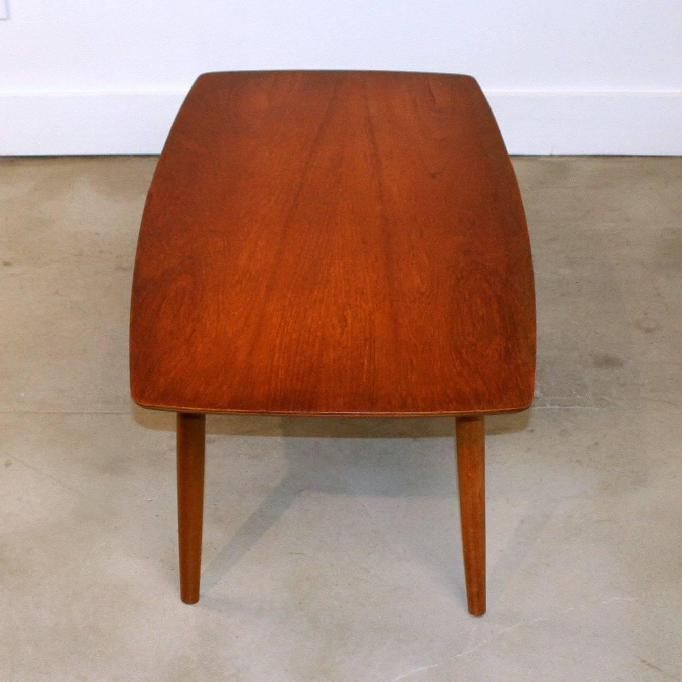 Vintage Danish Small Scale Teak Coffee Table At 1stdibs