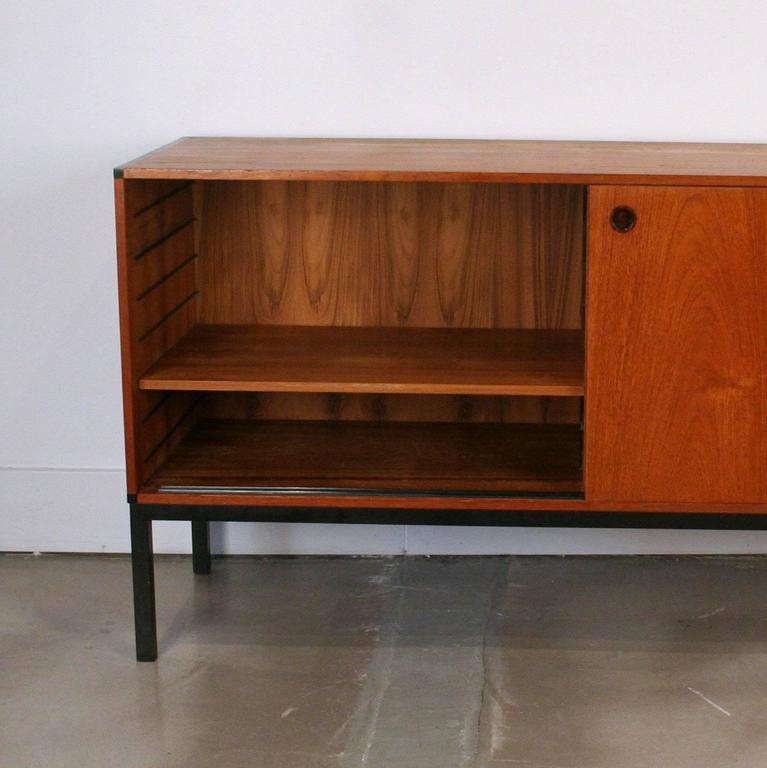 Vintage Danish Teak Office Cabinet Sideboard At 1stdibs