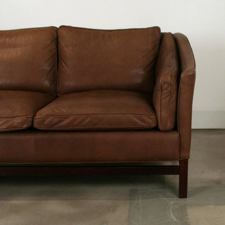 Vintage Danish Chocolate Brown Leather Stouby Sofa At 1stdibs