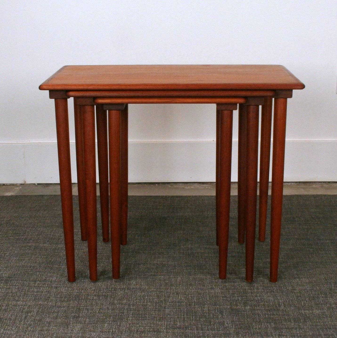 Teak Nesting Tables ~ Vintage danish teak nesting tables for sale at stdibs
