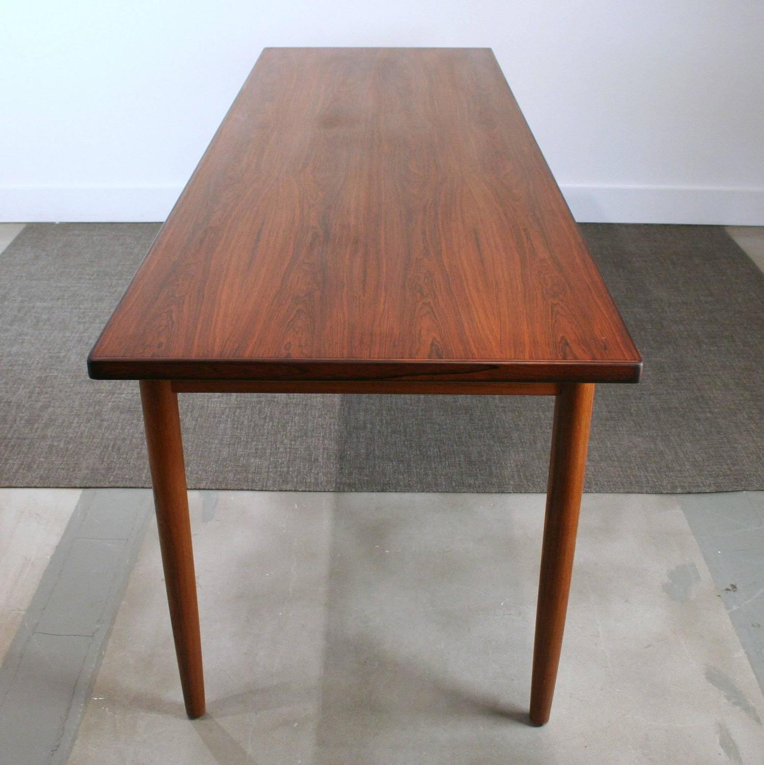 Long Dining Tables For Sale: Vintage Danish Rosewood Narrow Dining Table For Sale At