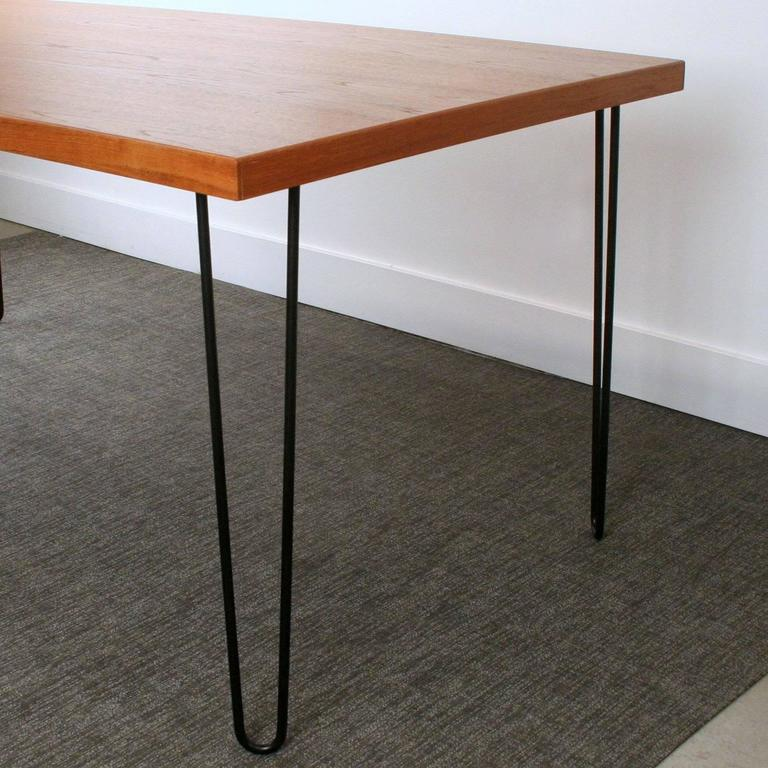 teak black hairpin legs dining table leg uk small wood