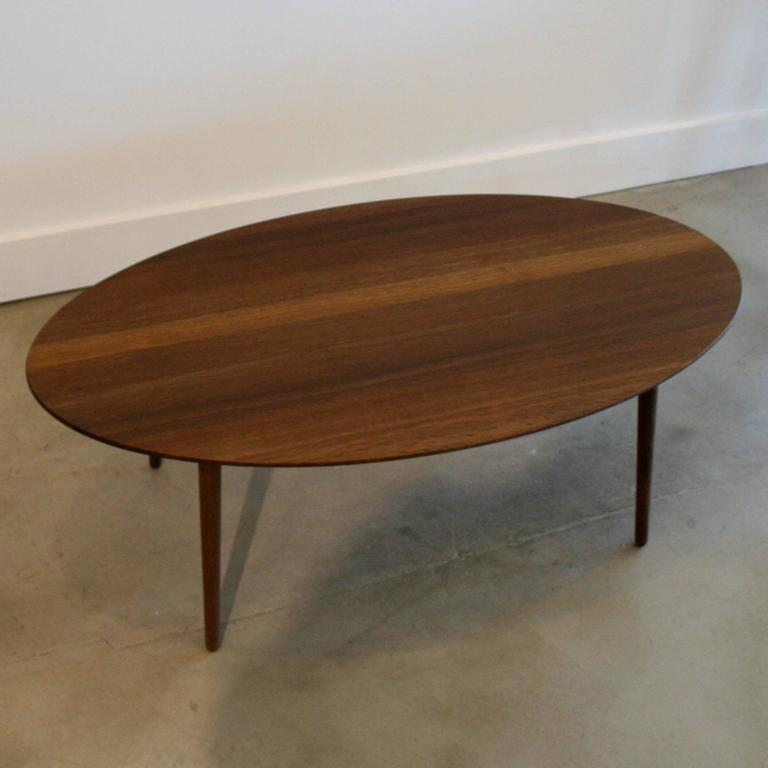 Danish Smoked Oak Oval Coffee Table At 1stdibs