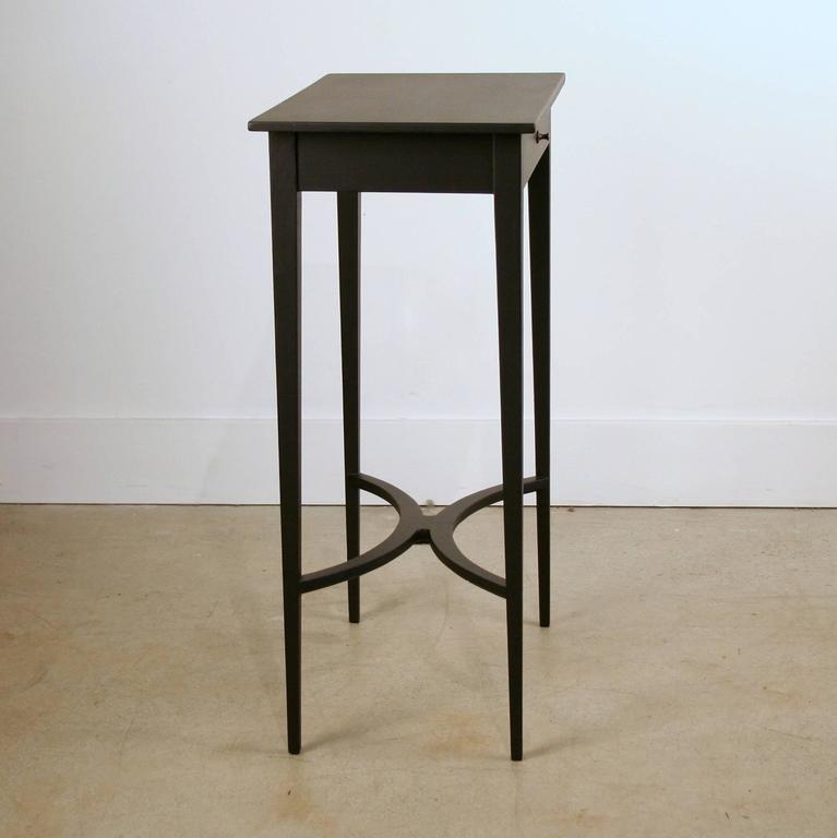 Tall black side table with drawer for sale at 1stdibs for Tall black end table