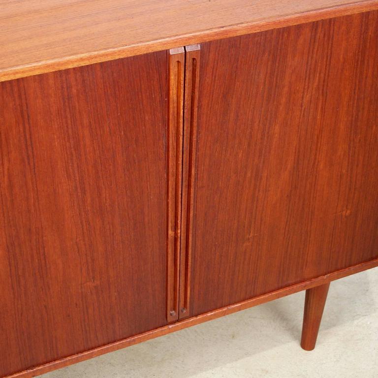 Teak Kitchen Cabinet Doors: Vintage Danish Teak Cabinet With Tambour Doors At 1stdibs