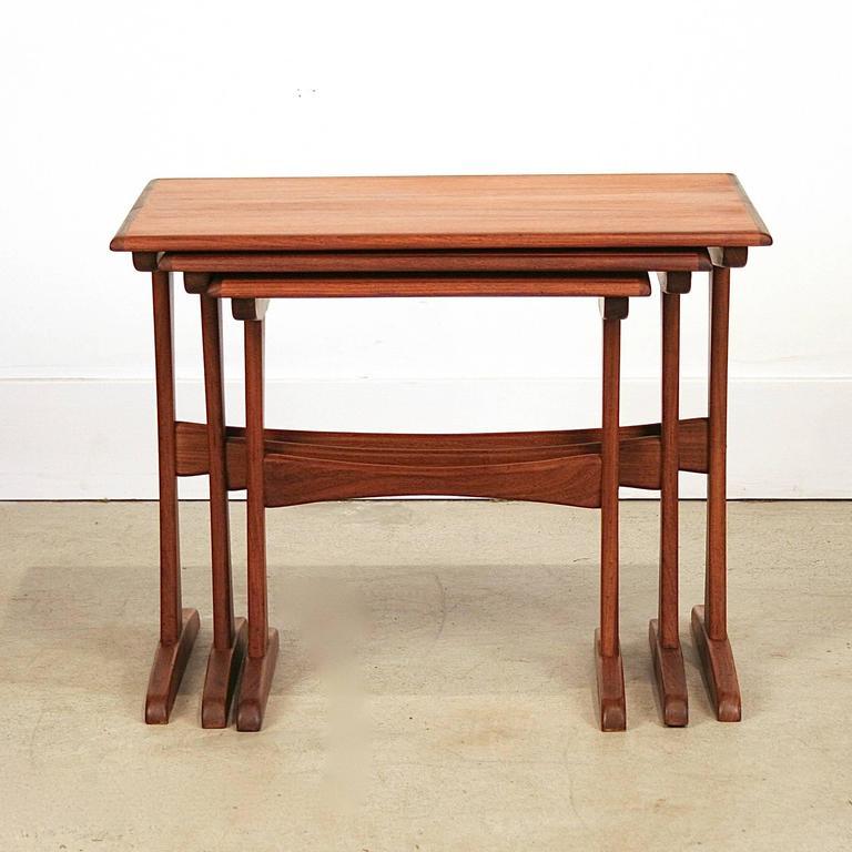 Vintage Danish Teak Nesting Tables 2