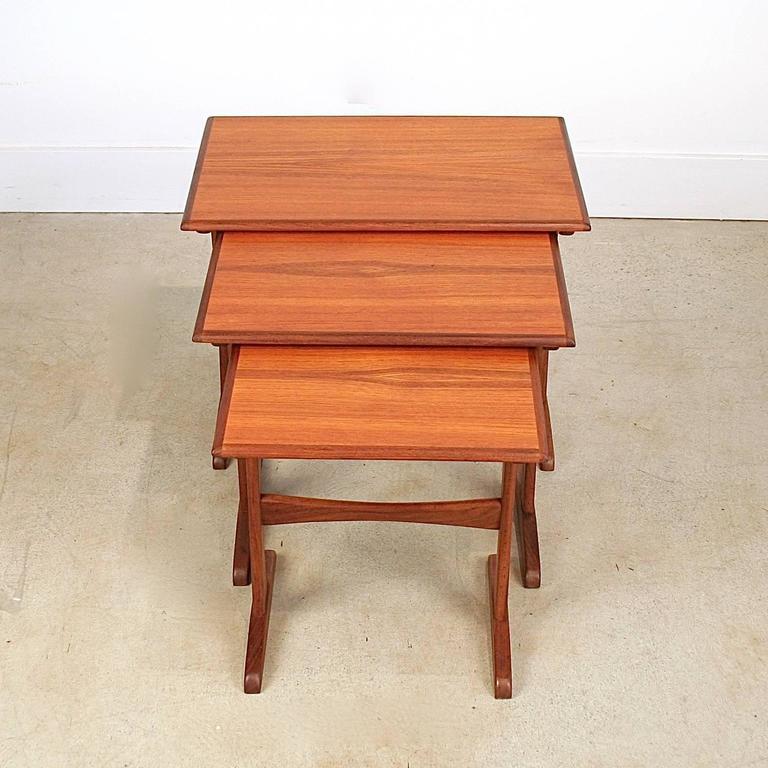 Vintage Danish Teak Nesting Tables 3