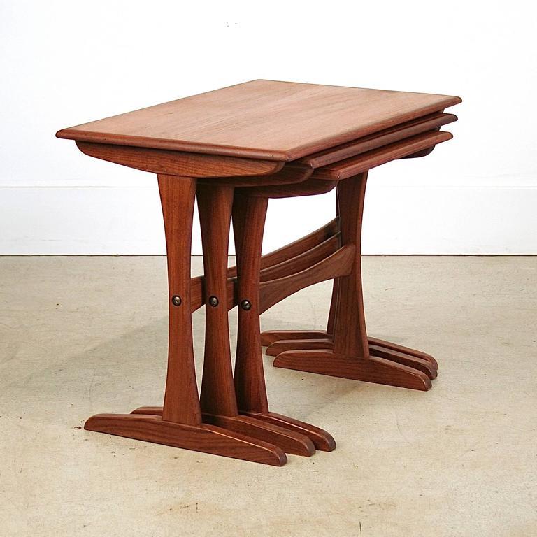 Vintage Danish Teak Nesting Tables 4