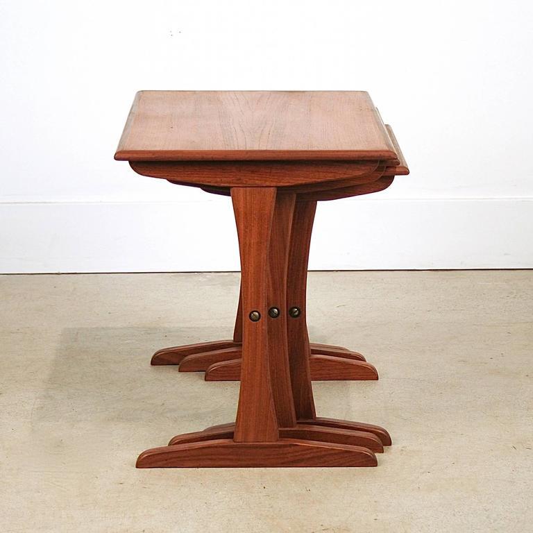 Vintage Danish Teak Nesting Tables 5