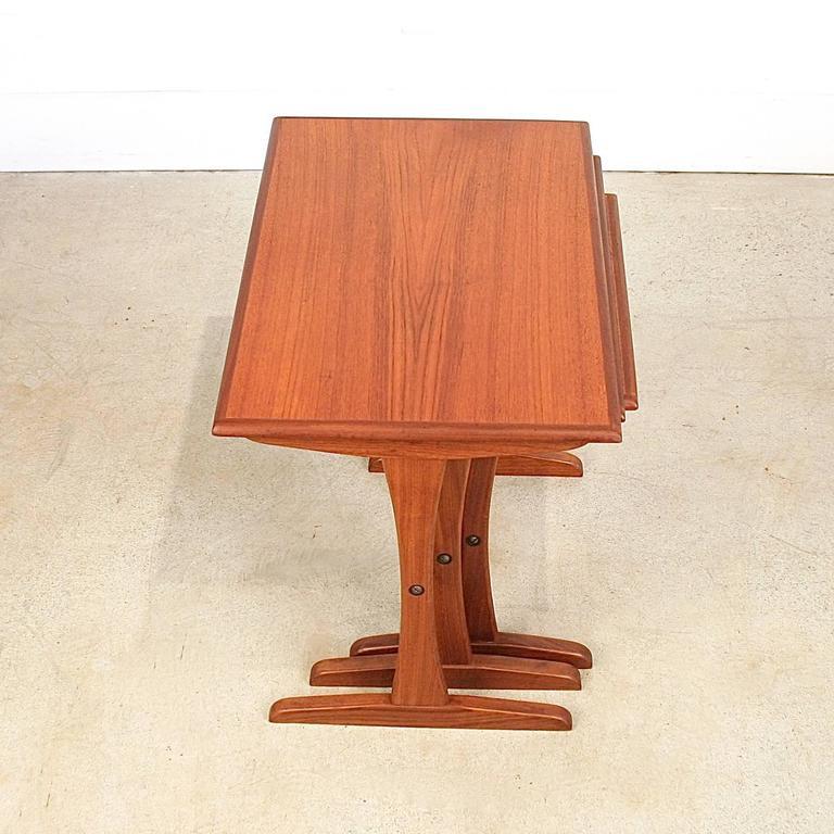 Vintage Danish Teak Nesting Tables 6