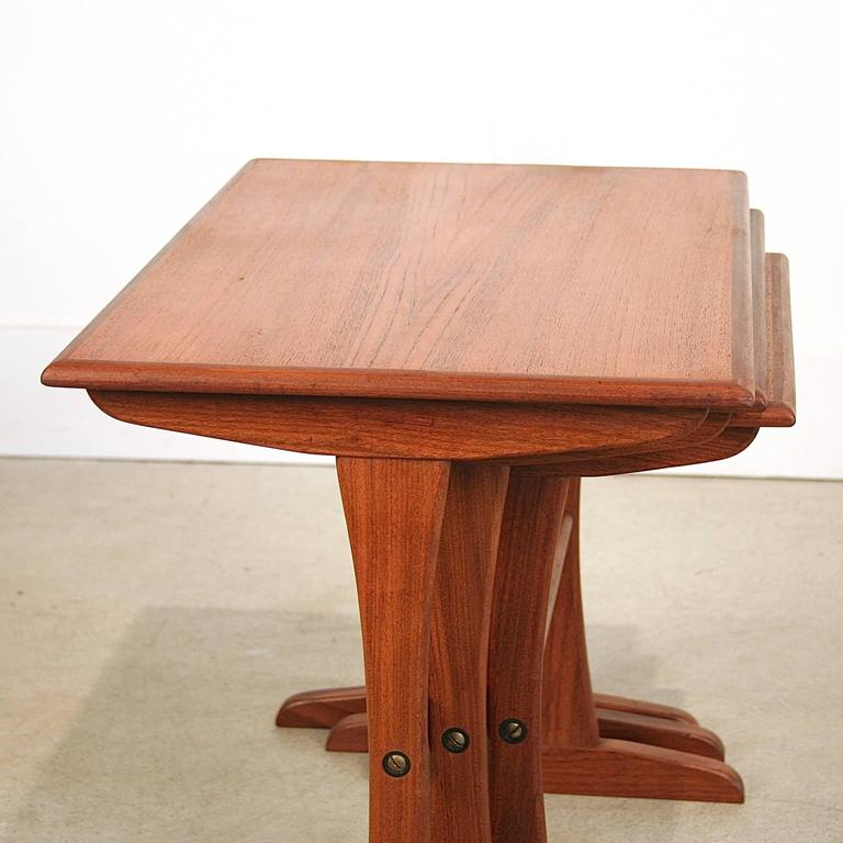 Vintage Danish Teak Nesting Tables 7