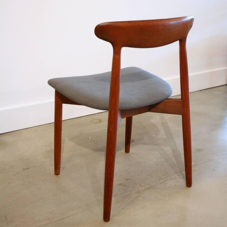 Vintage Danish Teak Dining Chairs Set of Four at 1stdibs