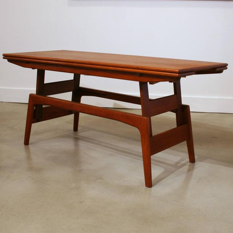 Vintage Teak Coffee Tables: Vintage Danish Teak Elevator Coffee Table At 1stdibs