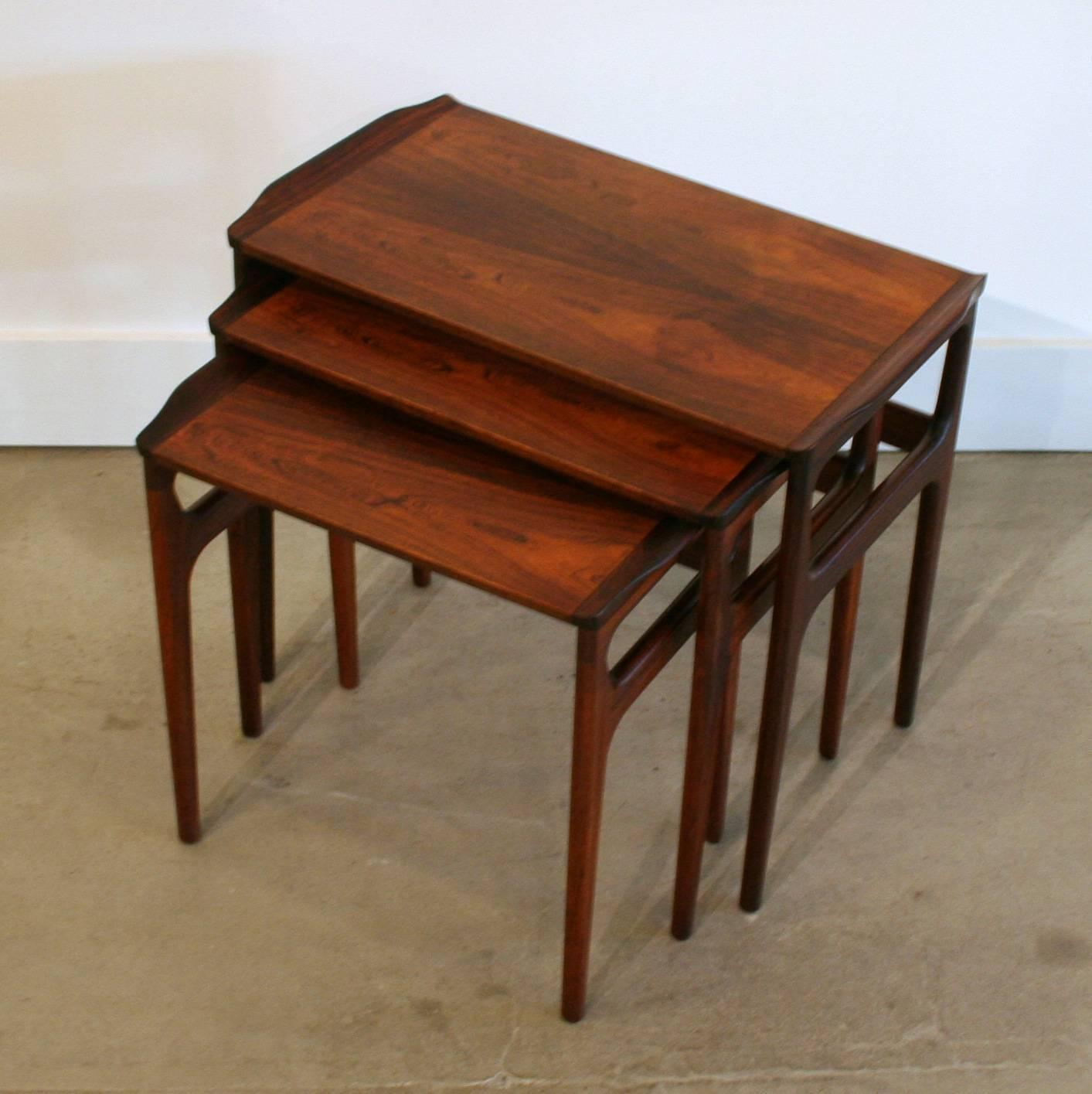 Vintage Nesting Tables ~ Vintage danish rosewood nesting table at stdibs