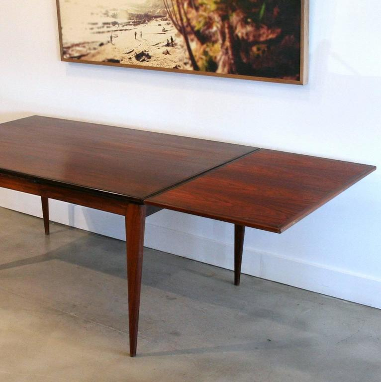 Vintage Rosewood Dining Table By N O Moller At 1stdibs