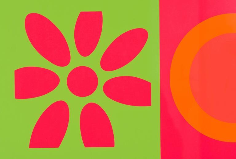 American Peter Gee Target and Daisies Silkscreen Pop Art For Sale