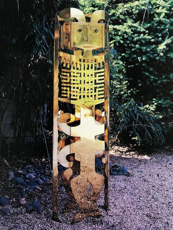 Brass Totem Sculpture by Robert Zeidman For Sale 2