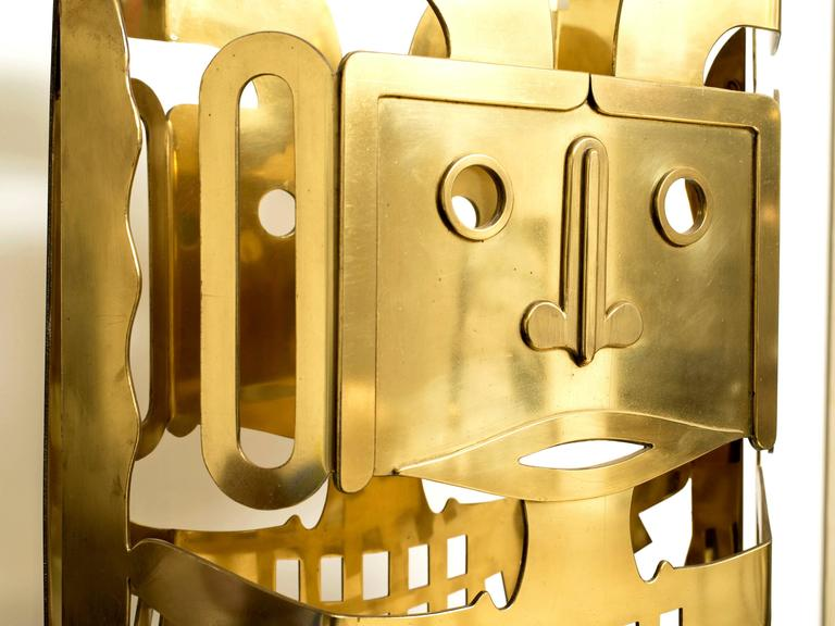 Brass Totem Sculpture by Robert Zeidman In Good Condition For Sale In New York, NY