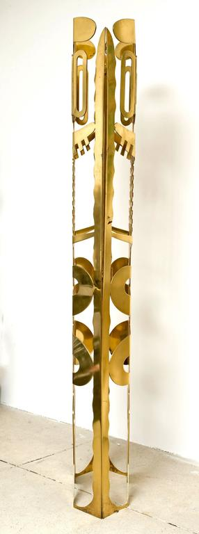 American Brass Totem Sculpture by Robert Zeidman For Sale