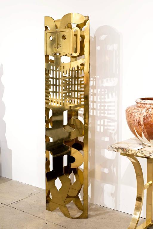 20th Century Brass Totem Sculpture by Robert Zeidman For Sale