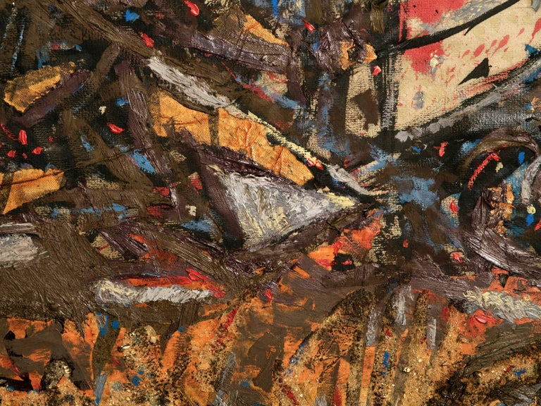 Late 20th Century Richard Texier Abstract Oil Painting For Sale