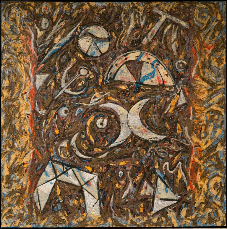 Canvas Richard Texier Abstract Oil Painting For Sale