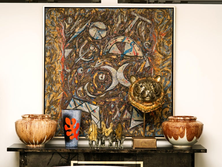 Richard Texier Abstract Oil Painting For Sale 5