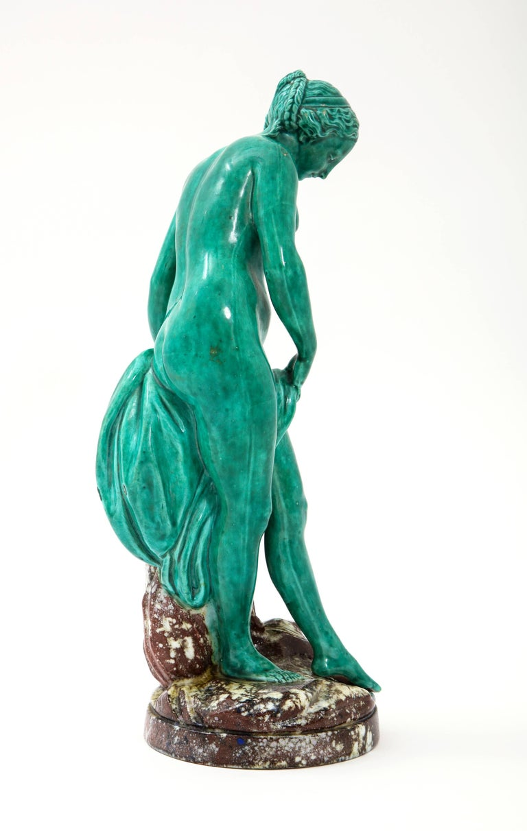 French Majolica Sculpture of Diana circa 19th Century For Sale 1