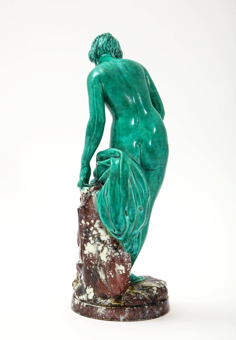 French Majolica Sculpture of Diana circa 19th Century For Sale 2