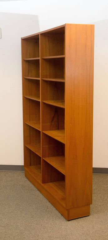 Ious Danish Teak Bookcase With Ten Shelves Two Are Stationary And Eight Adjule