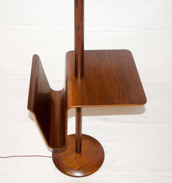 Mid century walnut floor lamp with bent ply table and magazine mid century walnut floor lamp with bent ply table magazine rack 3 mozeypictures Images
