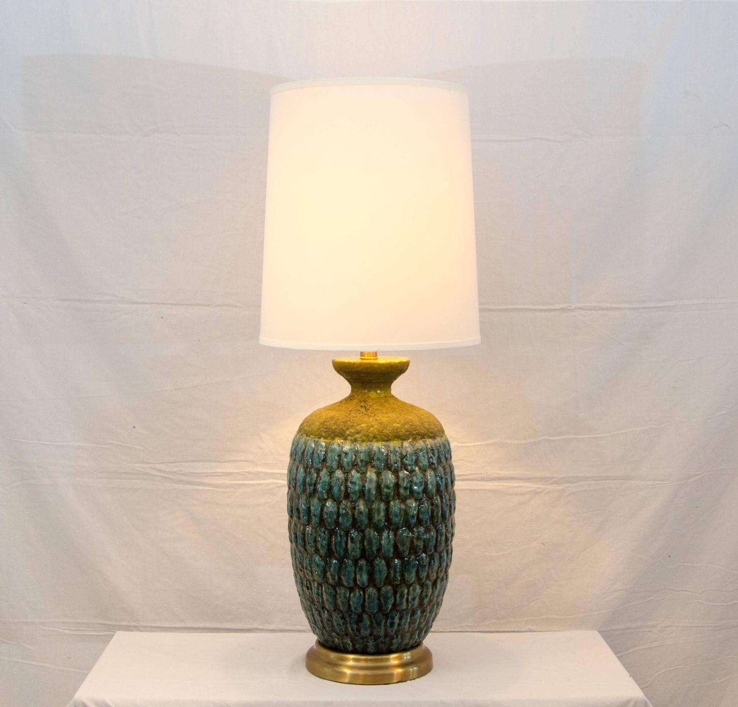 Studio Pottery Ceramic Table Lamp For Sale At 1stdibs