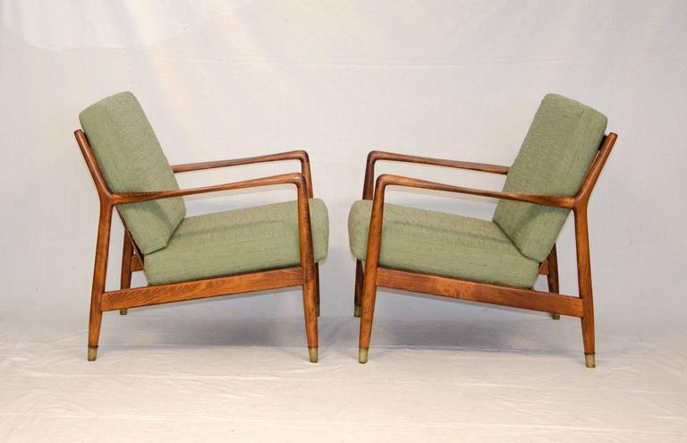 Nice Pair Of Scandinavian Lounge Chairs Manufactured By DUX. Very  Comfortable, Seat Cushions Are