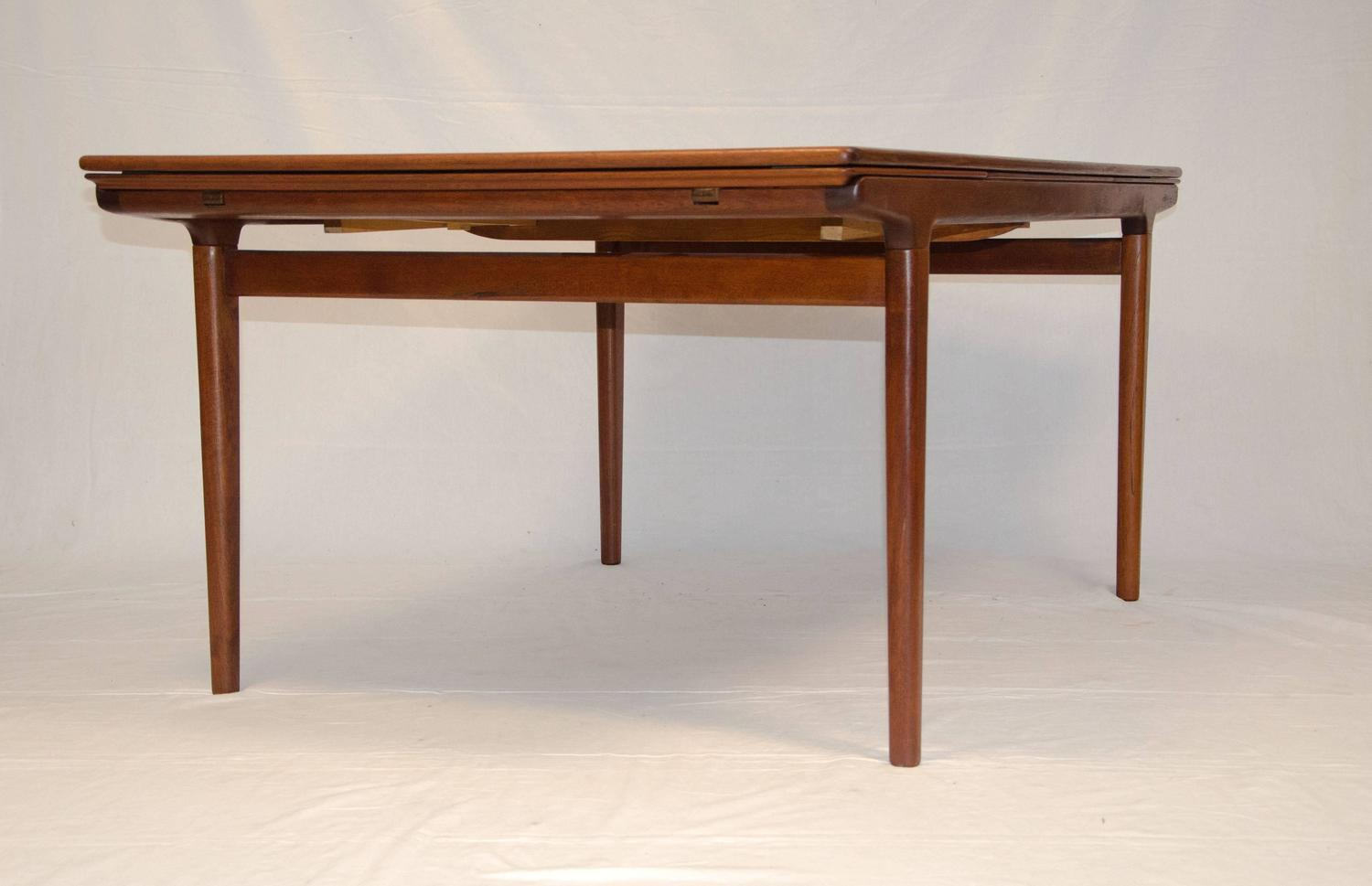Danish Teak Dining Table Johannes Andersen At 1stdibs
