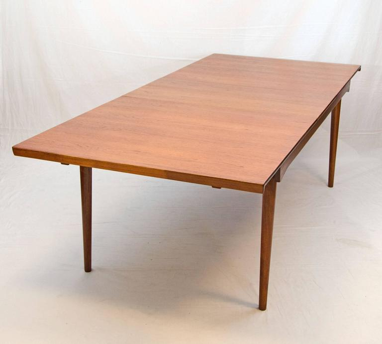 Danish Teak Dining Table Model Finn Juhl At Stdibs - Teak dining table with leaf