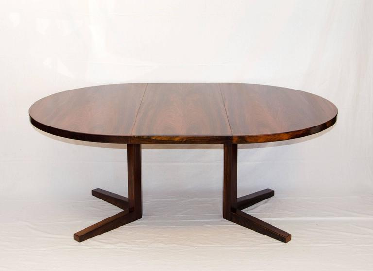 Pedestal Dining Table With Leaf Rosewood