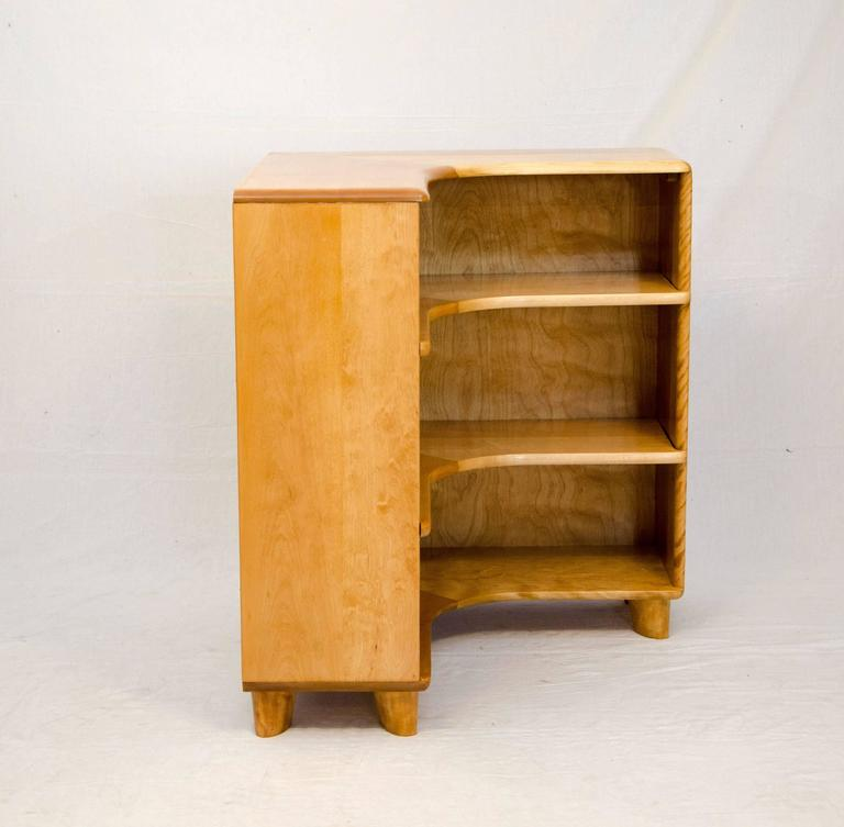Corner Bookcase With Two Adjule Shelves Manufactured By The Heywood Wakefield Company From 1947